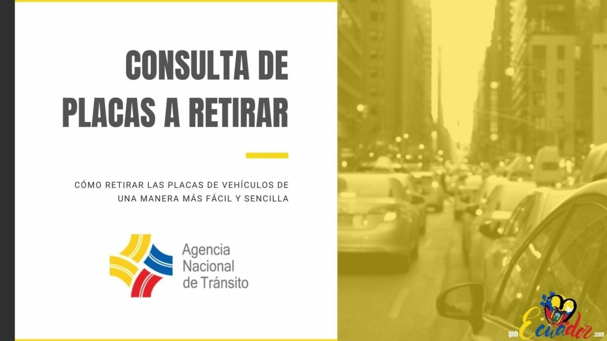Consulta Placas de vehículos a Retirar - ANT Ecuador