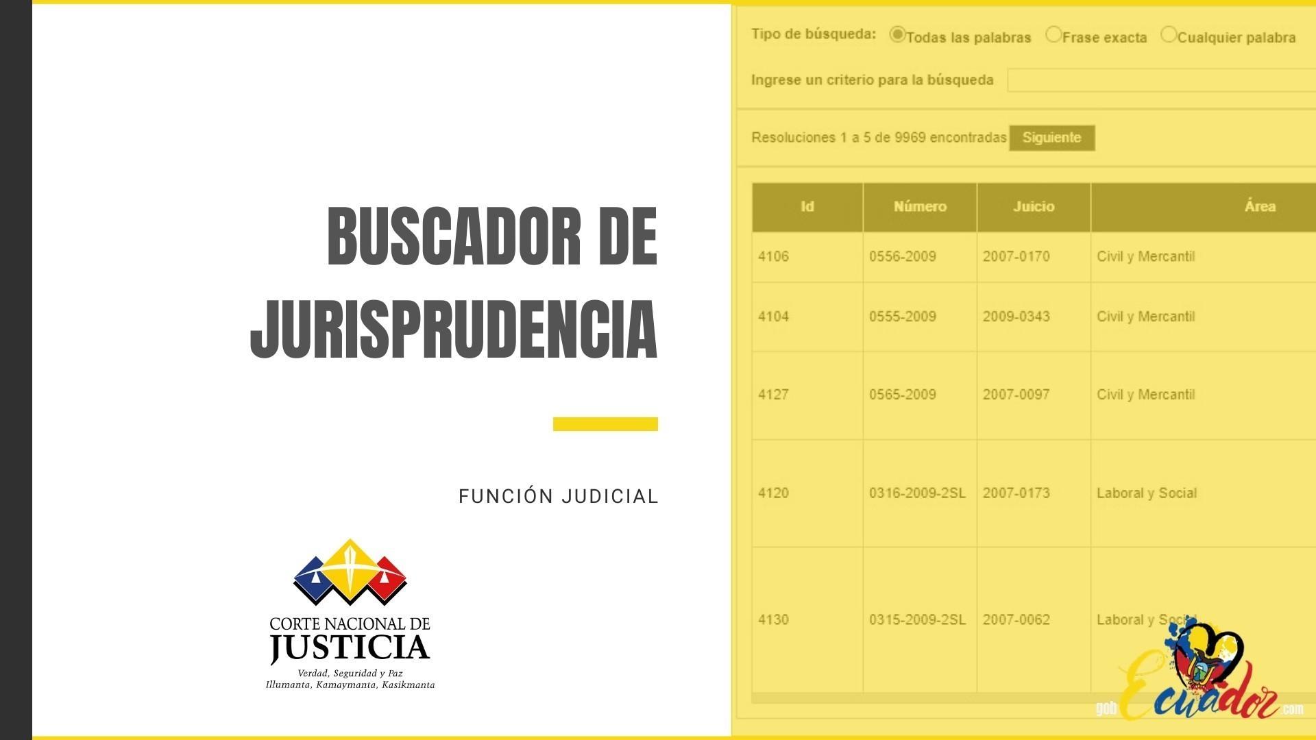 Buscador de Jurisprudencia