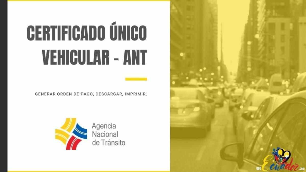 Certificado Único Vehicular ANT