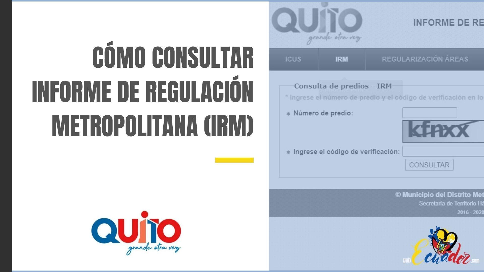 Cómo consultar Informe de Regulación Metropolitana