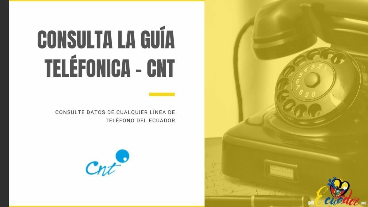 Consulta Guía Telefonica CNT