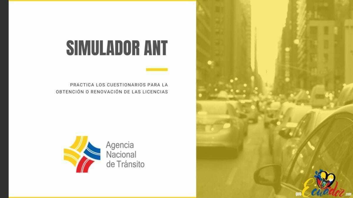 Simulador ANT para examen de Licencia de Conducir