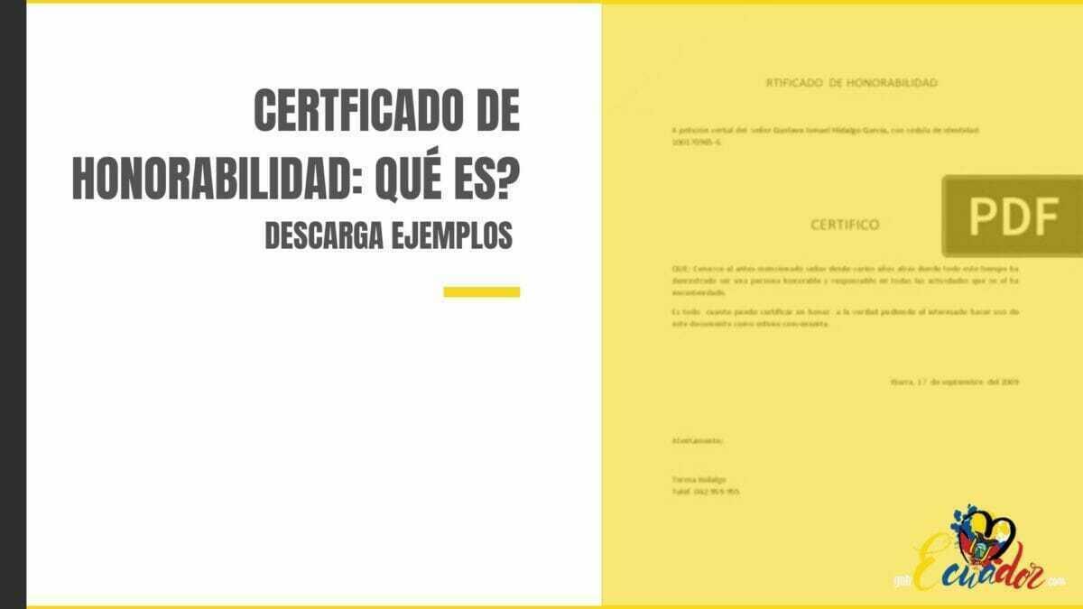 Cómo obtener el certificado de honorabilidad