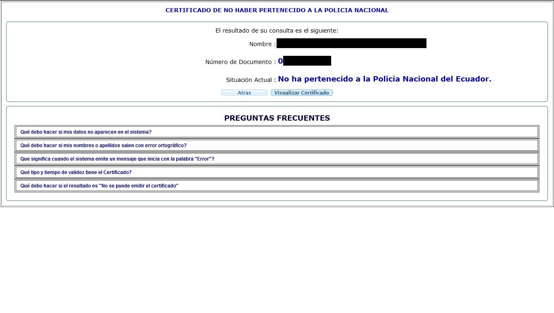 Certificado No Pertenecer A La Policia Nacional 10