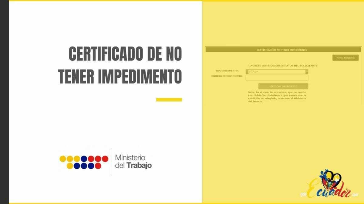 Cómo obtener el certificado de no tener impedimento