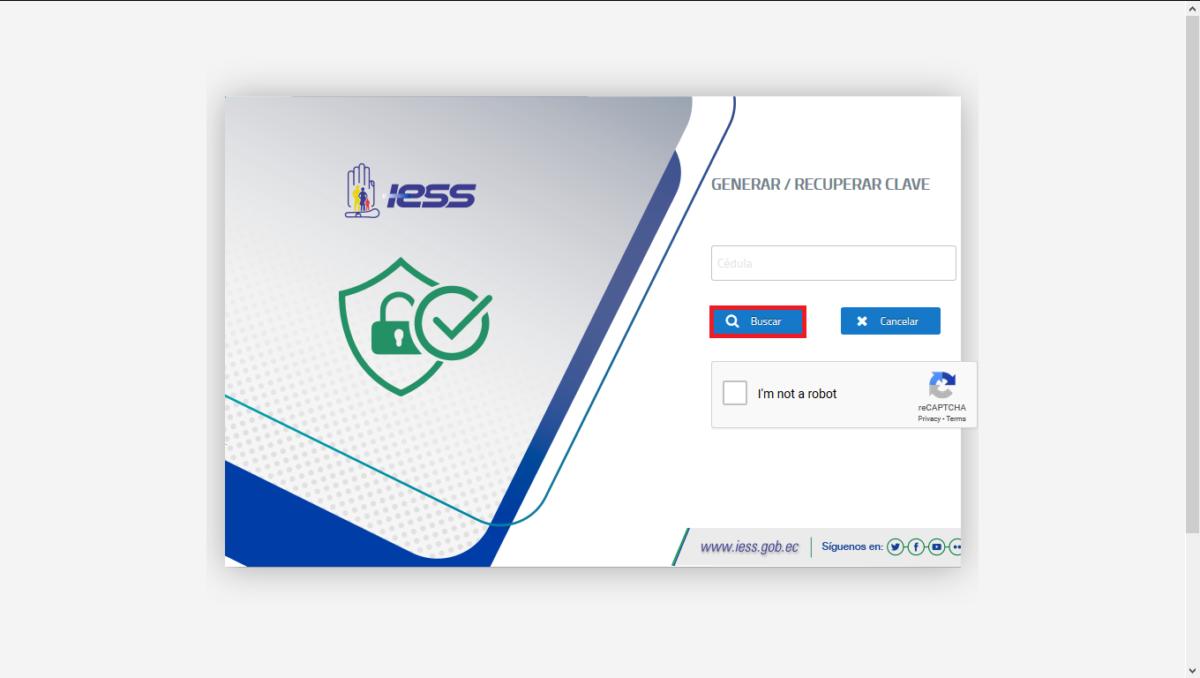 Recuper o generar clave del IESS por internet