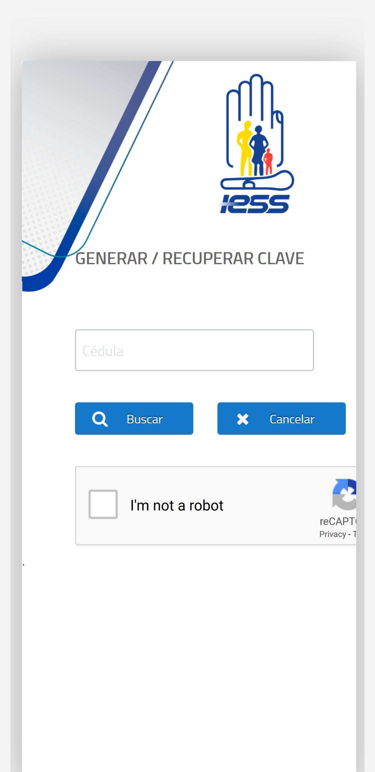 Generar o recuperar clave del IESS en celular
