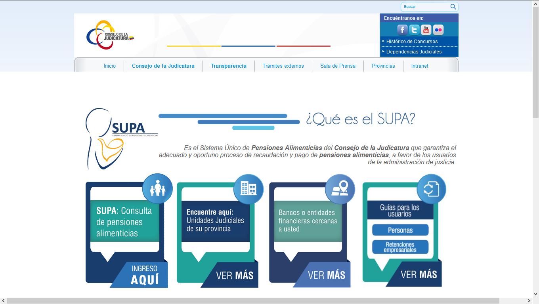 Página web SUPA