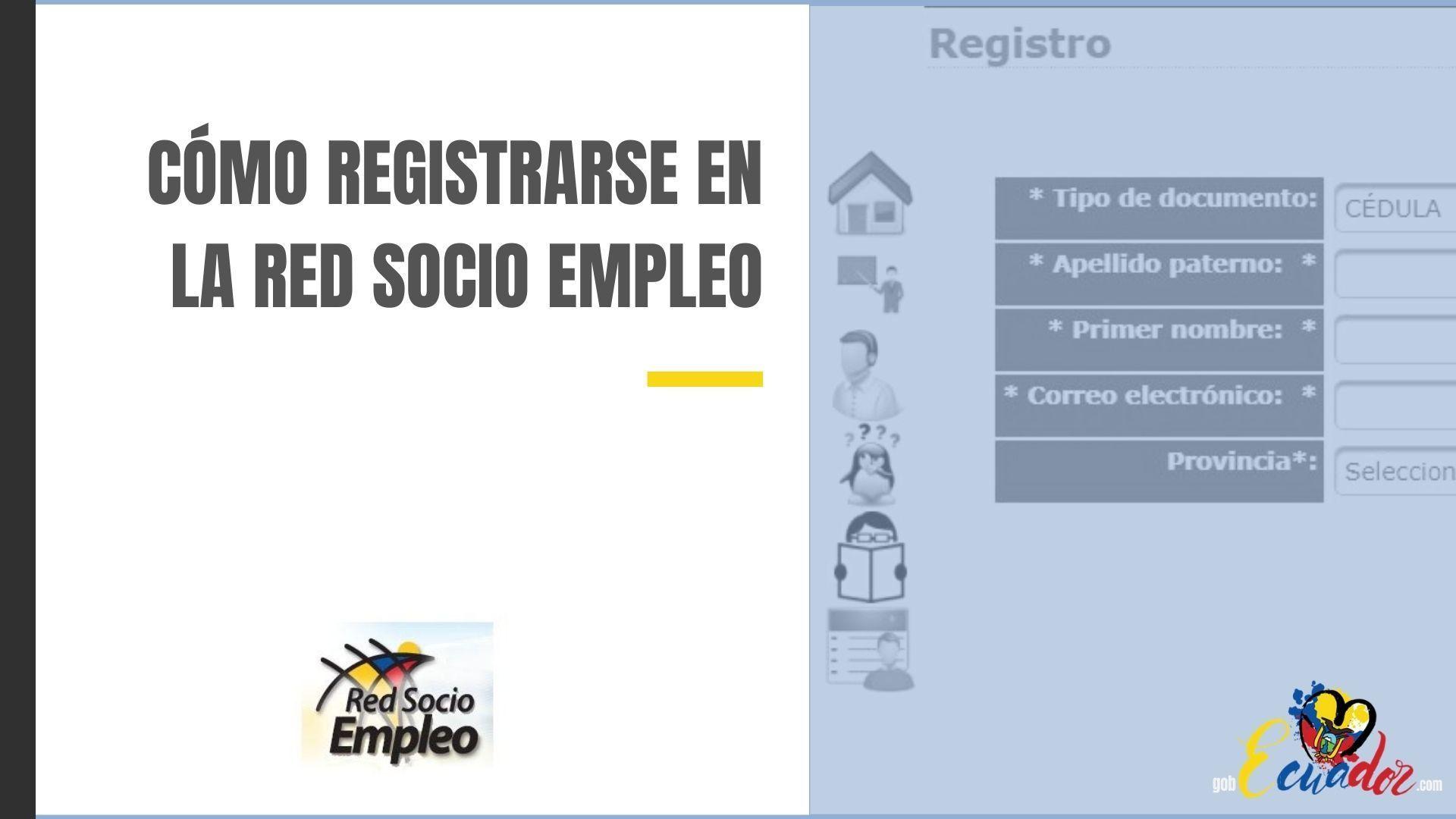 Cómo registrarse en la Red Socio Empleo